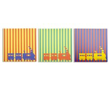 Rusty Little Engines Canvas Art (Set of 3)