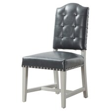 Glamour Leather Side Chair (Set of 2)