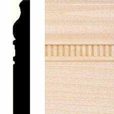 "0.63"" x 4"" Hardwood Embossed Base Moulding"