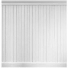 8 Linear ft. MDF Overlapping Wainscot Paneling Kit