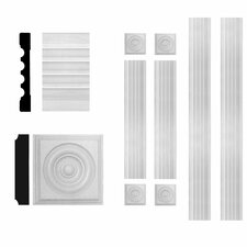 3/4 in. x 5-1/4 in. x 6 ft. MDF Fluted Window Casing Set Moulding