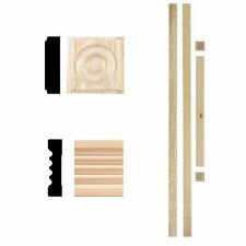 3/4 in. x 3 in. x 7 ft. Hardwood Fluted Door Trim Casing Set Moulding