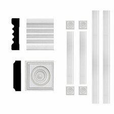 3/4 in. x 3 in. x 6 ft. MDF Fluted Window Casing Set Moulding