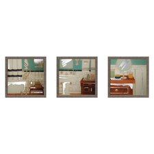 <strong>Elico LTD</strong> Classic Bath Framed Art (Set of 3)