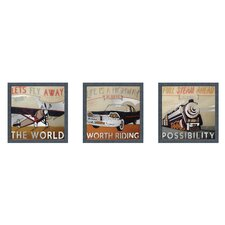 <strong>Elico LTD</strong> Let's Travel Framed Art (Set of 3)