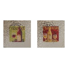 Decorated Wine Framed Art (Set of 2)