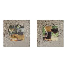 <strong>Elico LTD</strong> Vin Rouge Framed Art (Set of 2)