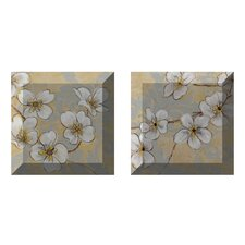 Perfectly Sweet 2 Piece Painting Print Plaque Set