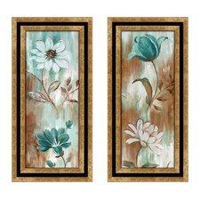 Flower Wash 2 Piece Framed Painting Print Set