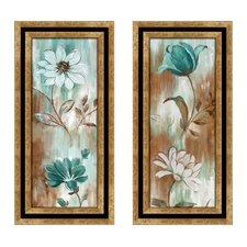 Flower Wash Framed Art (Set of 2)