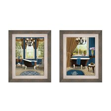 Presidential Bath Button Framed Art (Set of 2)