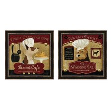 Biscuit Cafe Framed Art (Set of 2)
