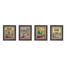 Greek Café Framed Art (Set of 4)
