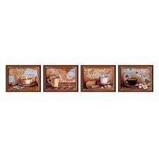 International 4 Piece Framed Painting Print Set
