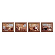 International Coffee Framed Art (Set of 4)