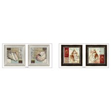 Ocean Shells Framed Art (Set of 4)