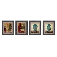 Gathered Glassware Framed Art (Set of 4)