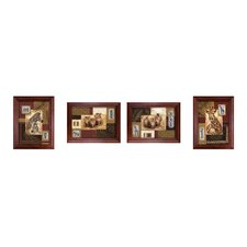 African Inspiration Framed Art (Set of 4)
