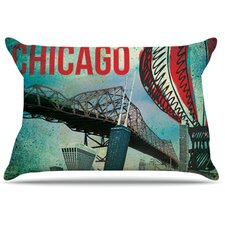 <strong>KESS InHouse</strong> Chicago Microfiber Fleece Pillow Case