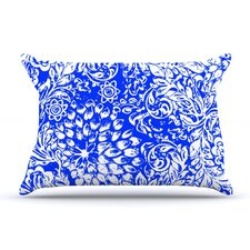 <strong>KESS InHouse</strong> Bloom Blue for You Fleece Pillow Case