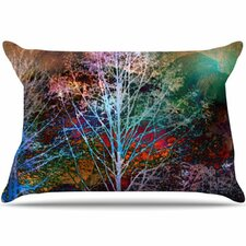 Trees in the Night Fleece Pillow Case