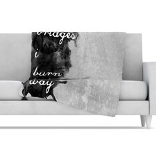 Bridges Fleece Throw Blanket