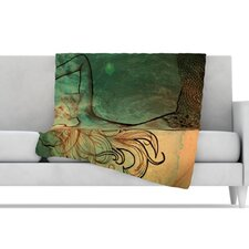 Poor Mermaid Fleece Throw Blanket