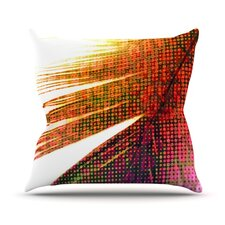 Feather Pop by Alison Coxon Throw Pillow