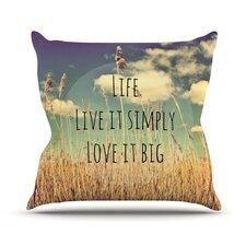Life by Alison Coxon Throw Pillow