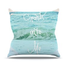 Crash Into Me by Beth Engel Throw Pillow