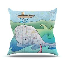 I'm on a Boat by Catherine Holcombe Throw Pillow
