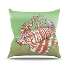Fish Manchu by Catherine Holcombe Throw Pillow