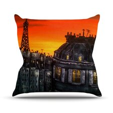 Paris by Christen Treat Throw Pillow