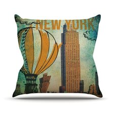 New York Outdoor Throw Pillow