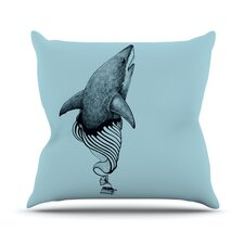 Shark Record II by Graham Curran Throw Pillow