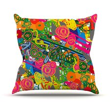 Psychedelic Garden by Frederic Levy-Hadida Throw Pillow