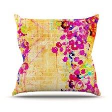 Wall Flowers by Ebi Emporium Throw Pillow