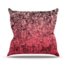 So This Is Love by Ebi Emporium Glitter Throw Pillow