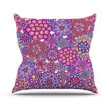 My Happy Flowers Throw Pillow
