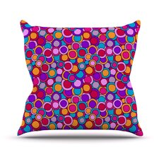My Colourful Circles by Julia Grifol Throw Pillow