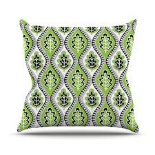 Oak Leaf by Jacqueline Milton Floral Throw Pillow
