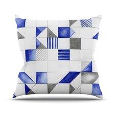 Winter Geometry Outdoor Throw Pillow