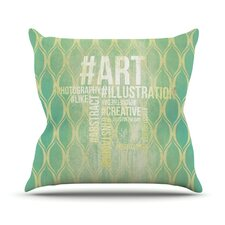 Hashtag Outdoor Throw Pillow