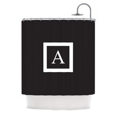Monogram Solid Polyester Shower Curtain