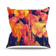 Geo Flower Outdoor Throw Pillow