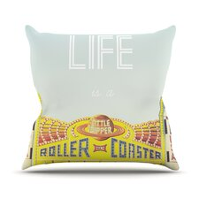Life Is A Rollercoaster Throw Pillow