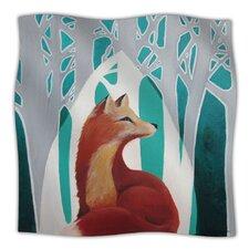 Fox Forest Microfiber Fleece Throw Blanket