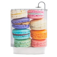 I Love Macaroons Polyester Shower Curtain