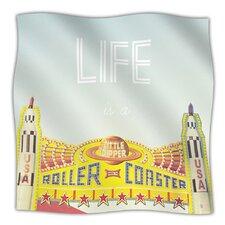Life Is A Rollercoaster Microfiber Fleece Throw Blanket