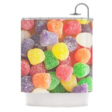 I Want Gum Drops Polyester Shower Curtain